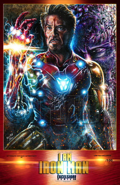 i am iron man poster print  limited
