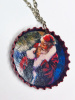 Santa Claus Bottle Cap Necklace