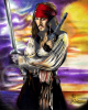 Jack Sparrow 8X10 Canvas Print